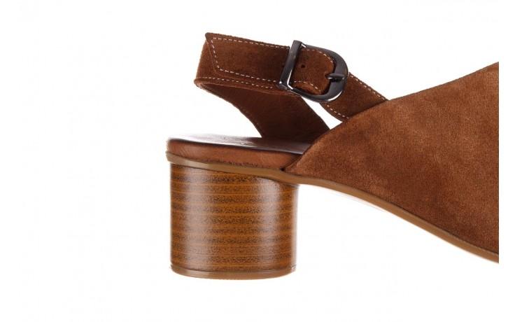 Sandały bayla-161 061 1030 tan suede, brąz, skóra naturalna zamszowa - sandały - dla niej  - sale 7