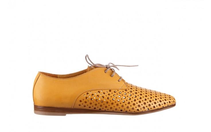 Półbuty bayla-161 138 80129 noce, żółty, skóra naturalna - skórzane - półbuty - buty damskie - kobieta