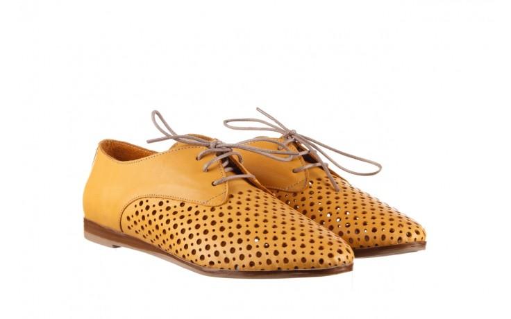 Półbuty bayla-161 138 80129 noce, żółty, skóra naturalna - półbuty - buty damskie - kobieta 1