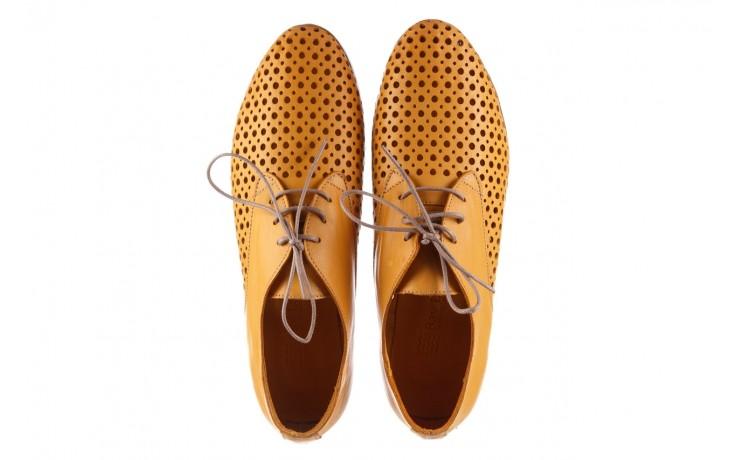 Półbuty bayla-161 138 80129 noce, żółty, skóra naturalna - skórzane - półbuty - buty damskie - kobieta 4