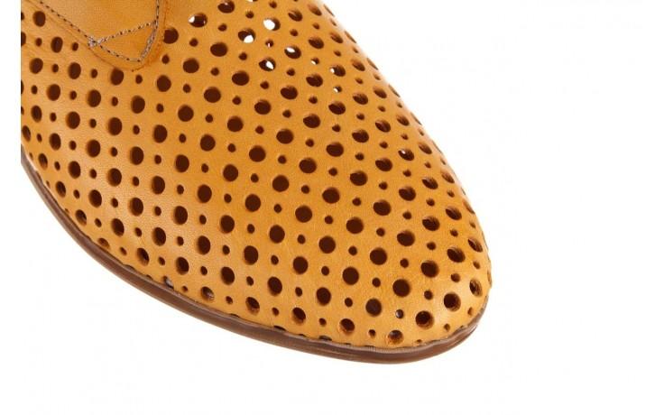 Półbuty bayla-161 138 80129 noce, żółty, skóra naturalna - półbuty - buty damskie - kobieta 6