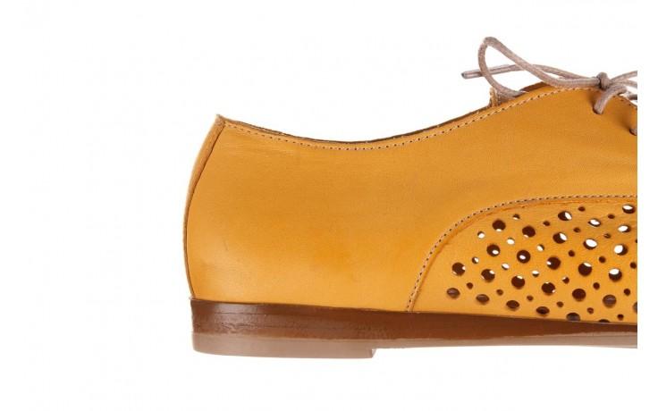 Półbuty bayla-161 138 80129 noce, żółty, skóra naturalna - półbuty - buty damskie - kobieta 7