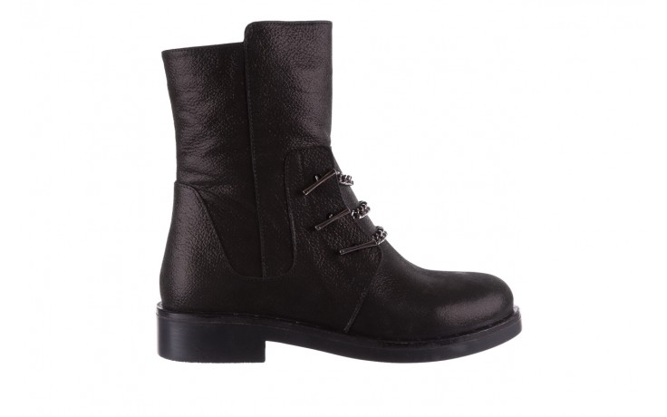 Trzewiki bayla-112 0460-800 czarne trzewiki, skóra naturalna - worker boots - trendy - kobieta