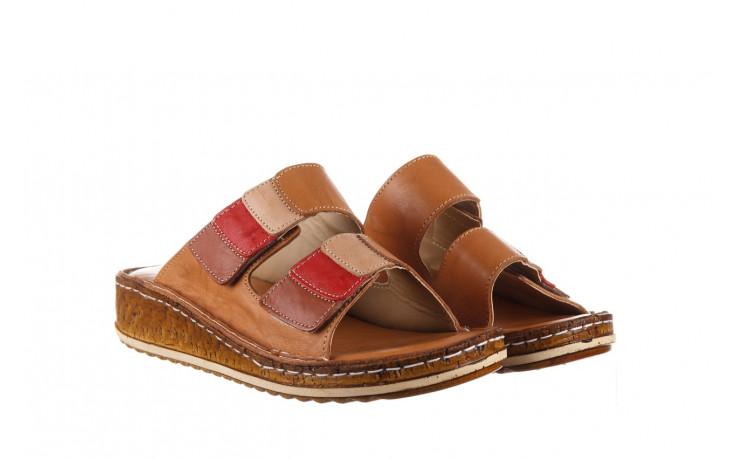 Klapki bayla-161 016 109 tan brown taupe 21 161186, brąz, skóra naturalna  - klapki - buty damskie - kobieta 1