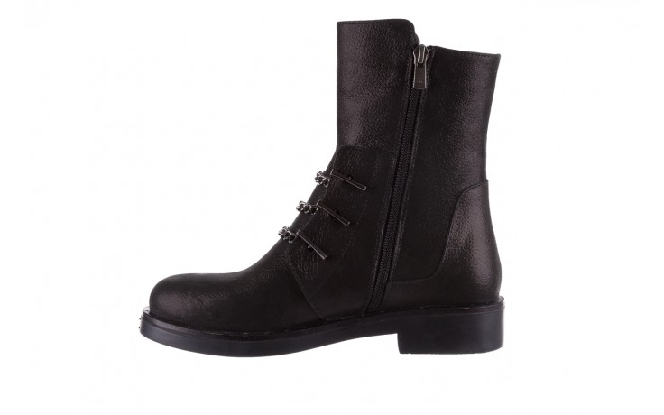 Trzewiki bayla-112 0460-800 czarne trzewiki, skóra naturalna - worker boots - trendy - kobieta 2