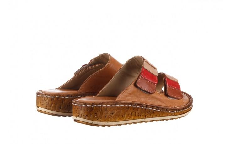 Klapki bayla-161 016 109 tan brown taupe, brąz, skóra naturalna  - klapki - dla niej  - sale 3