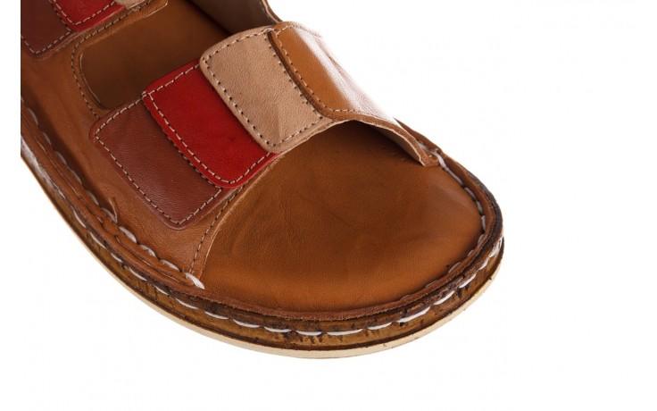 Klapki bayla-161 016 109 tan brown taupe, brąz, skóra naturalna  - klapki - dla niej  - sale 5