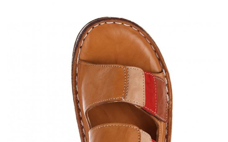 Klapki bayla-161 016 109 tan brown taupe 21 161186, brąz, skóra naturalna  - klapki - buty damskie - kobieta 6