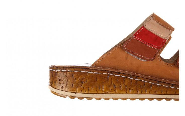 Klapki bayla-161 016 109 tan brown taupe 21 161186, brąz, skóra naturalna  - klapki - buty damskie - kobieta 7