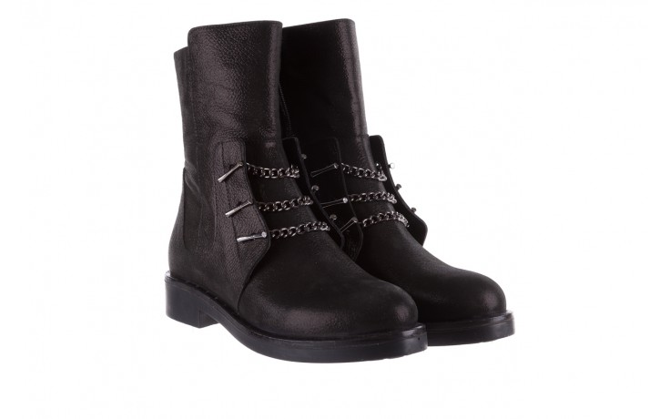 Trzewiki bayla-112 0460-800 czarne trzewiki, skóra naturalna - worker boots - trendy - kobieta 1