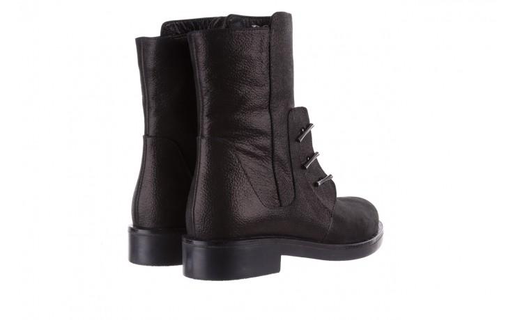 Trzewiki bayla-112 0460-800 czarne trzewiki, skóra naturalna - worker boots - trendy - kobieta 3