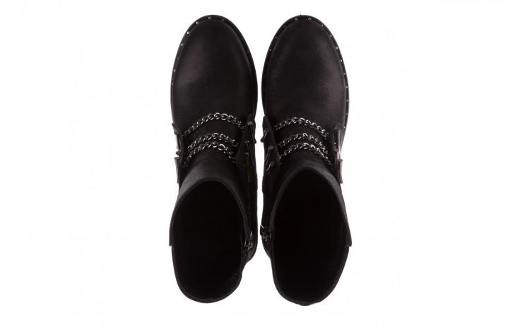 Trzewiki bayla-112 0460-800 czarne trzewiki, skóra naturalna - worker boots - trendy - kobieta 4