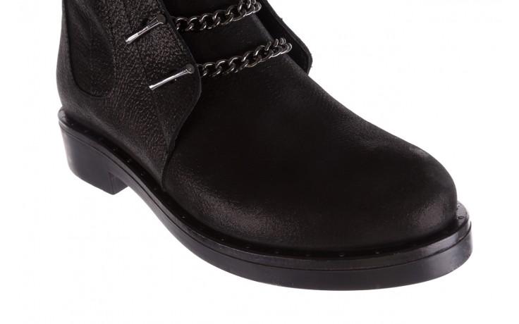 Trzewiki bayla-112 0460-800 czarne trzewiki, skóra naturalna - worker boots - trendy - kobieta 6