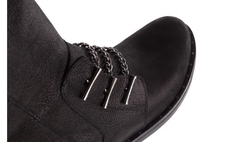 Trzewiki bayla-112 0460-800 czarne trzewiki, skóra naturalna - worker boots - trendy - kobieta 5