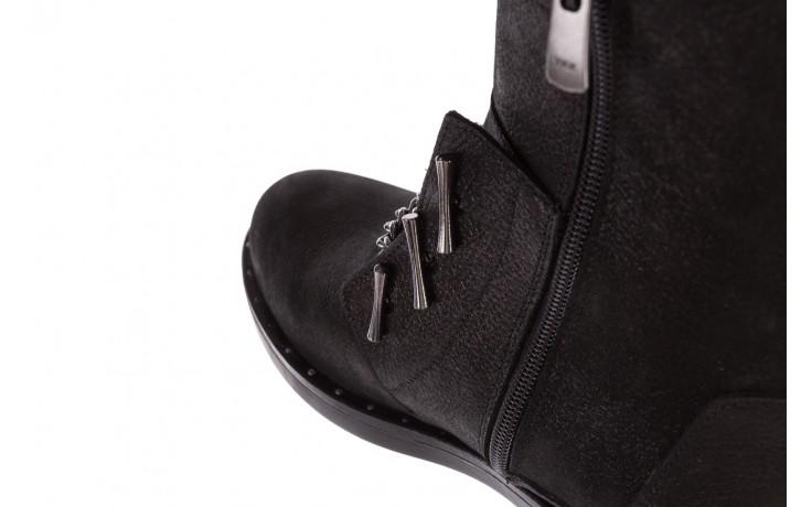 Trzewiki bayla-112 0460-800 czarne trzewiki, skóra naturalna - worker boots - trendy - kobieta 7