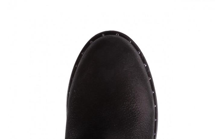 Trzewiki bayla-112 0460-800 czarne trzewiki, skóra naturalna - worker boots - trendy - kobieta 9