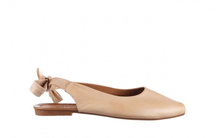 Sandały bayla-161 066 504 277 beige, beż, skóra naturalna  - płaskie - sandały - buty damskie - kobieta