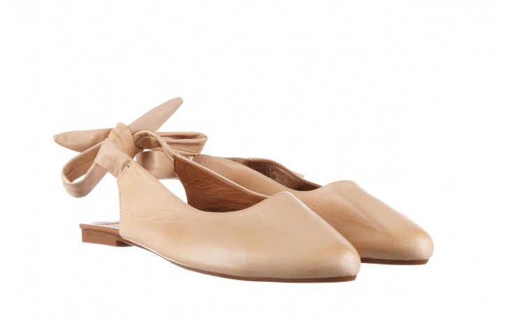 Sandały bayla-161 066 504 277 beige, beż, skóra naturalna  - płaskie - sandały - buty damskie - kobieta 1