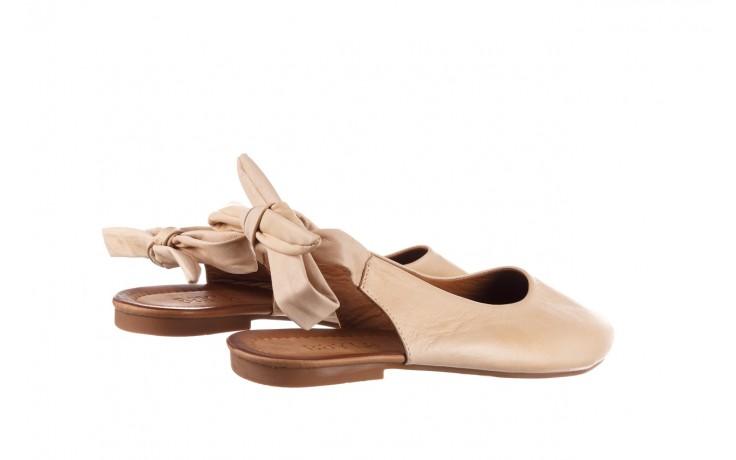 Sandały bayla-161 066 504 277 beige, beż, skóra naturalna  - płaskie - sandały - buty damskie - kobieta 3