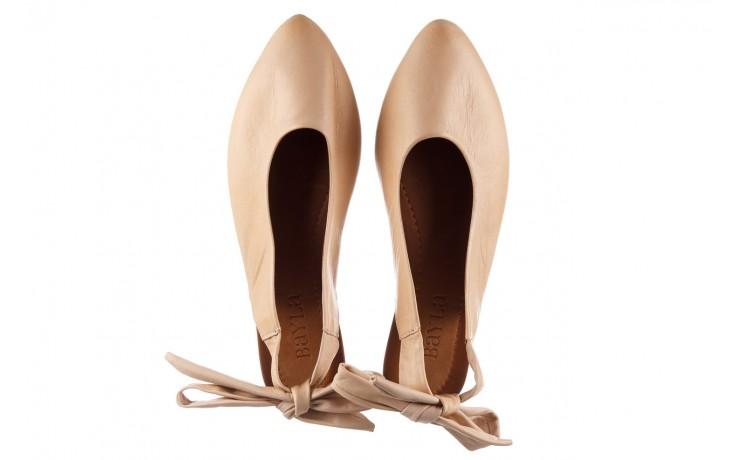 Sandały bayla-161 066 504 277 beige, beż, skóra naturalna  - płaskie - sandały - buty damskie - kobieta 4