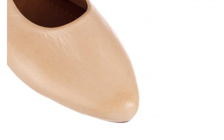 Sandały bayla-161 066 504 277 beige, beż, skóra naturalna  - płaskie - sandały - buty damskie - kobieta 5