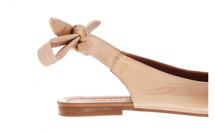 Sandały bayla-161 066 504 277 beige, beż, skóra naturalna  - płaskie - sandały - buty damskie - kobieta 6
