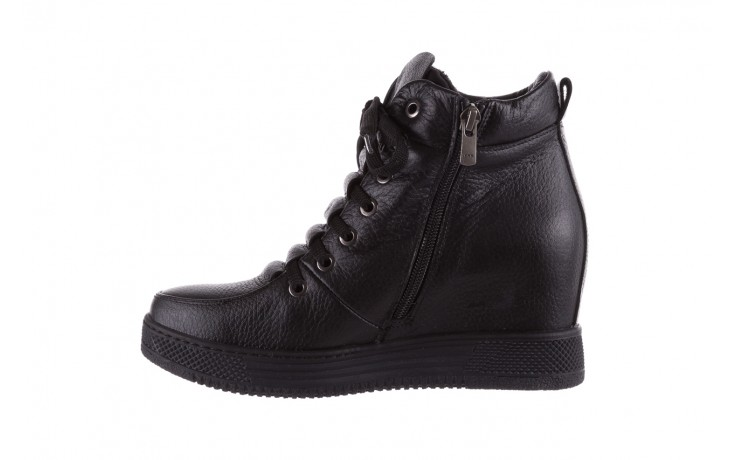 Sneakresy bayla-112 0235-io-20 czarne sneakersy, skóra naturalna  - bayla - nasze marki 2