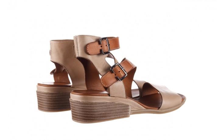 Sandały bayla-161 061 1605 mouton tan, beż, skóra naturalna - koturny - buty damskie - kobieta 3