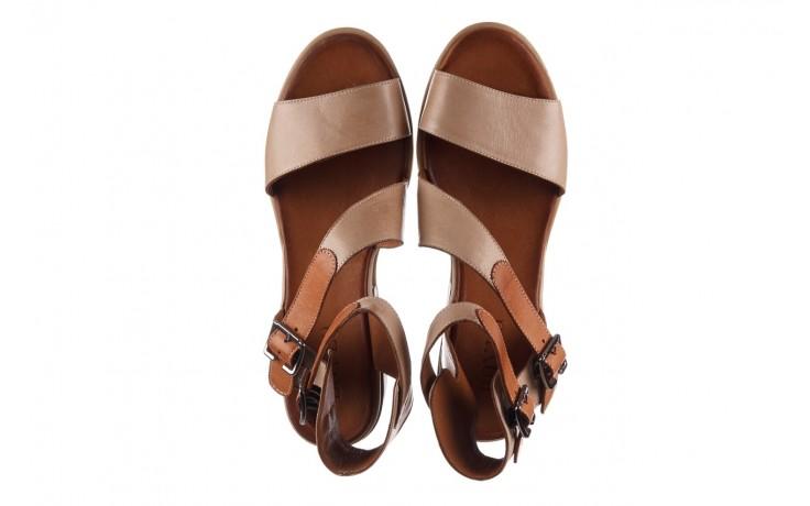 Sandały bayla-161 061 1605 mouton tan, beż, skóra naturalna - koturny - buty damskie - kobieta 4