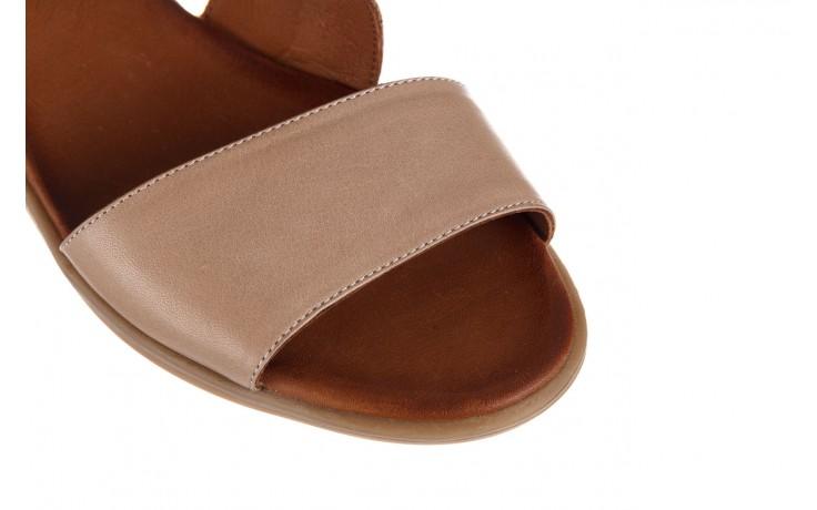 Sandały bayla-161 061 1605 mouton tan, beż, skóra naturalna - koturny - buty damskie - kobieta 6