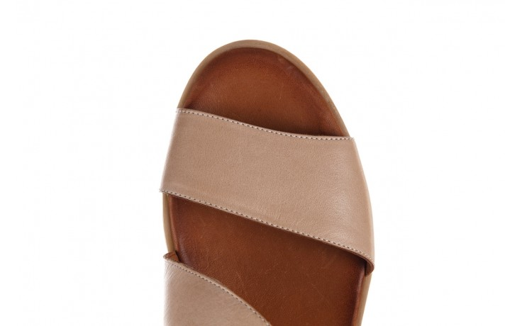Sandały bayla-161 061 1605 mouton tan, beż, skóra naturalna - koturny - buty damskie - kobieta 5