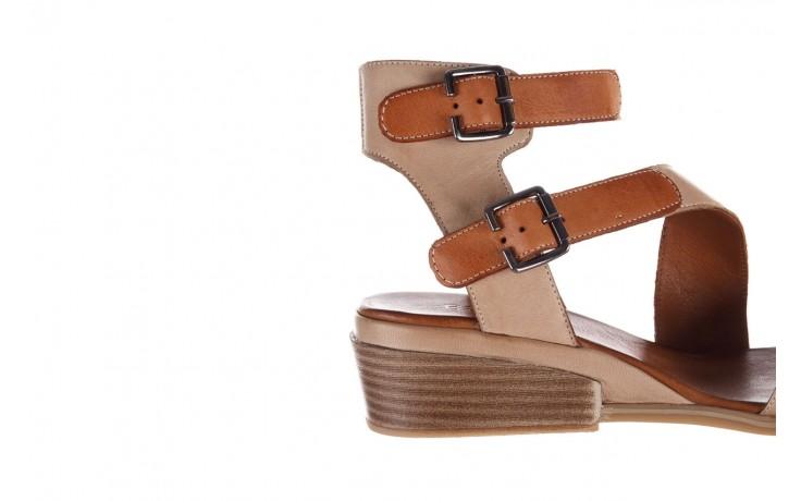 Sandały bayla-161 061 1605 mouton tan, beż, skóra naturalna - koturny - buty damskie - kobieta 7