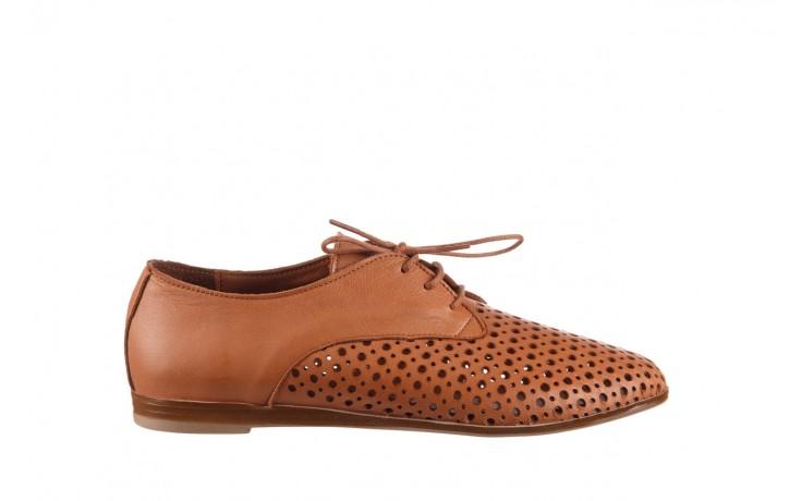 Półbuty bayla-161 138 80129 tan, brąz, skóra naturalna - sznurowane - półbuty - buty damskie - kobieta