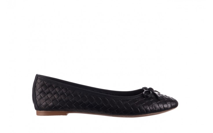 Baleriny bayla-161 093 388 6048 black 161145, czarny, skóra naturalna  - baleriny - buty damskie - kobieta