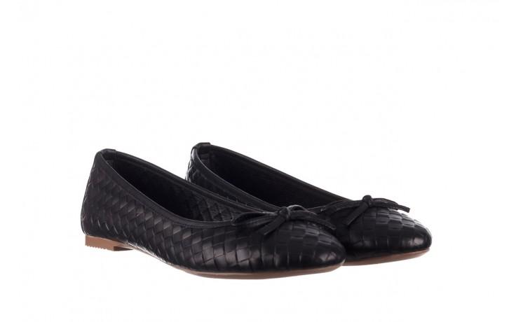Baleriny bayla-161 093 388 6048 black 161145, czarny, skóra naturalna  - baleriny - buty damskie - kobieta 1