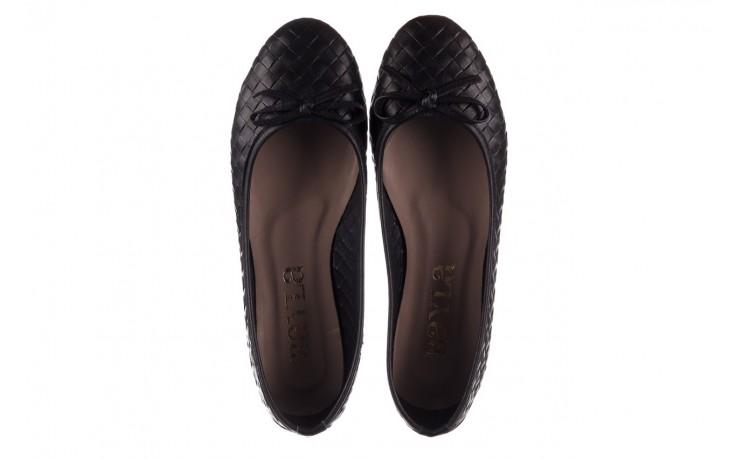 Baleriny bayla-161 093 388 6048 black 161145, czarny, skóra naturalna  - baleriny - buty damskie - kobieta 4