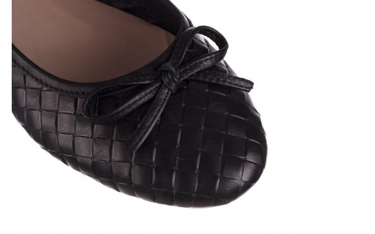 Baleriny bayla-161 093 388 6048 black 161145, czarny, skóra naturalna 5