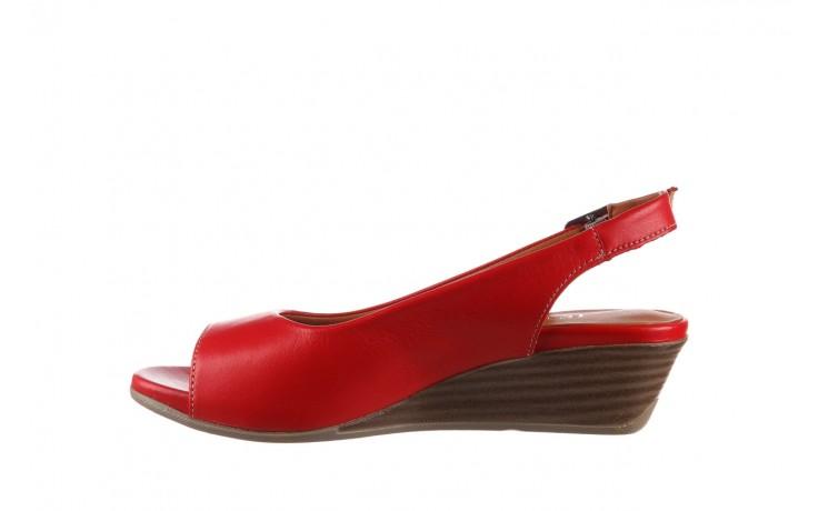 Sandały bayla-161 078 606 3 02 red, czerwony, skóra naturalna 2