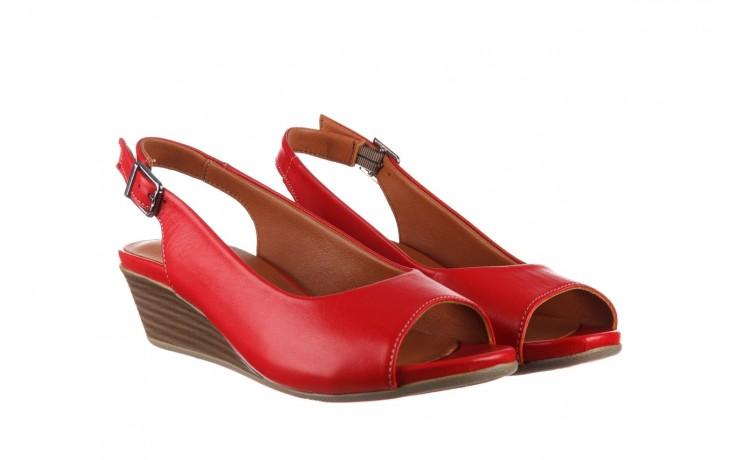 Sandały bayla-161 078 606 3 02 red, czerwony, skóra naturalna 1
