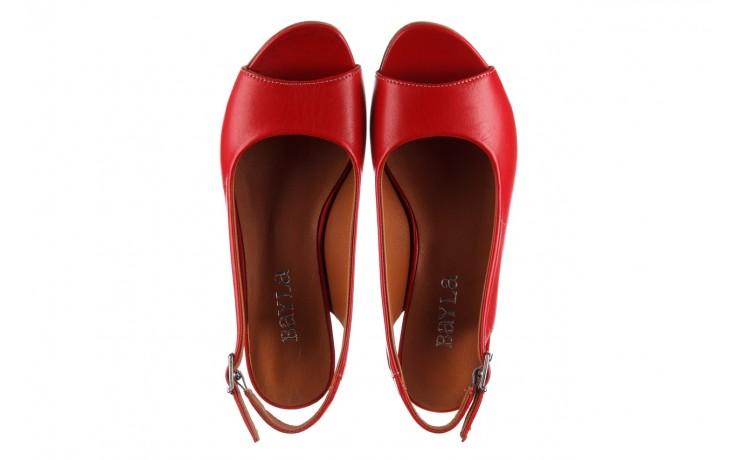 Sandały bayla-161 078 606 3 02 red, czerwony, skóra naturalna 4