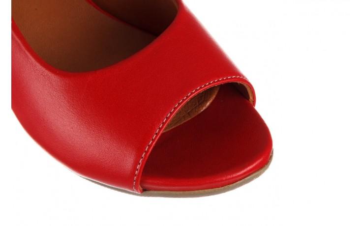 Sandały bayla-161 078 606 3 02 red, czerwony, skóra naturalna 5