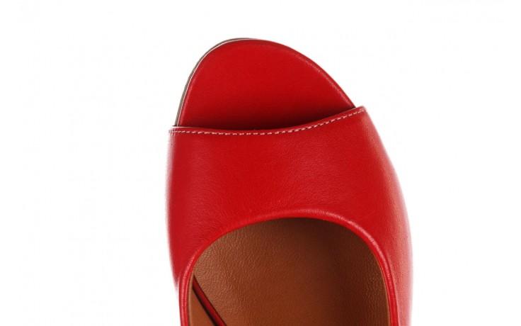 Sandały bayla-161 078 606 3 02 red, czerwony, skóra naturalna 6