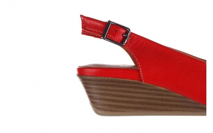 Sandały bayla-161 078 606 3 02 red, czerwony, skóra naturalna 7