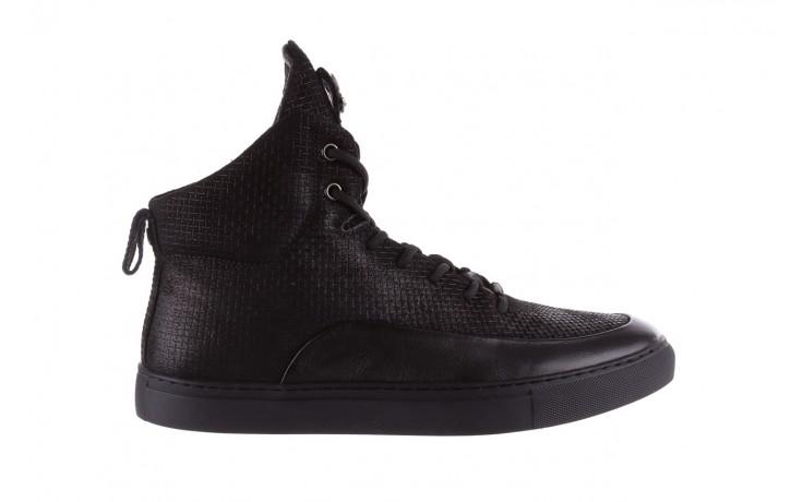 Sneakersy john doubare m7961-1 black, czarny, skóra naturalna  - brooman - nasze marki