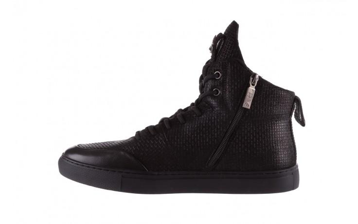 Sneakersy john doubare m7961-1 black, czarny, skóra naturalna  - brooman - nasze marki 2