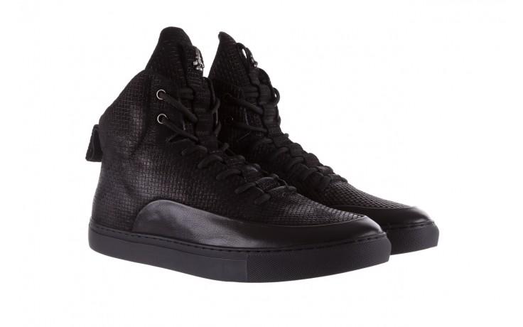 Sneakersy john doubare m7961-1 black, czarny, skóra naturalna  - brooman - nasze marki 1