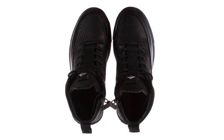 Sneakersy john doubare m7961-1 black, czarny, skóra naturalna  - brooman - nasze marki 4