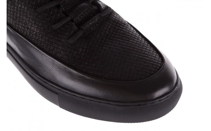 Sneakersy john doubare m7961-1 black, czarny, skóra naturalna  - brooman - nasze marki 5