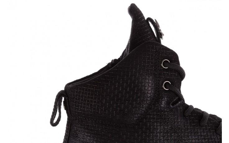 Sneakersy john doubare m7961-1 black, czarny, skóra naturalna  - brooman - nasze marki 6