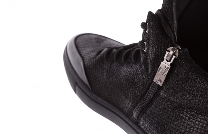 Sneakersy john doubare m7961-1 black, czarny, skóra naturalna  - brooman - nasze marki 7